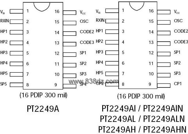 pt2248 pt2249a中文资料简介-红外线接收电路图
