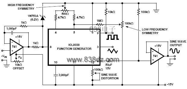 单片精密函数发生器ICL 8038 及其应用 - Winsolider Q - 兴趣人生