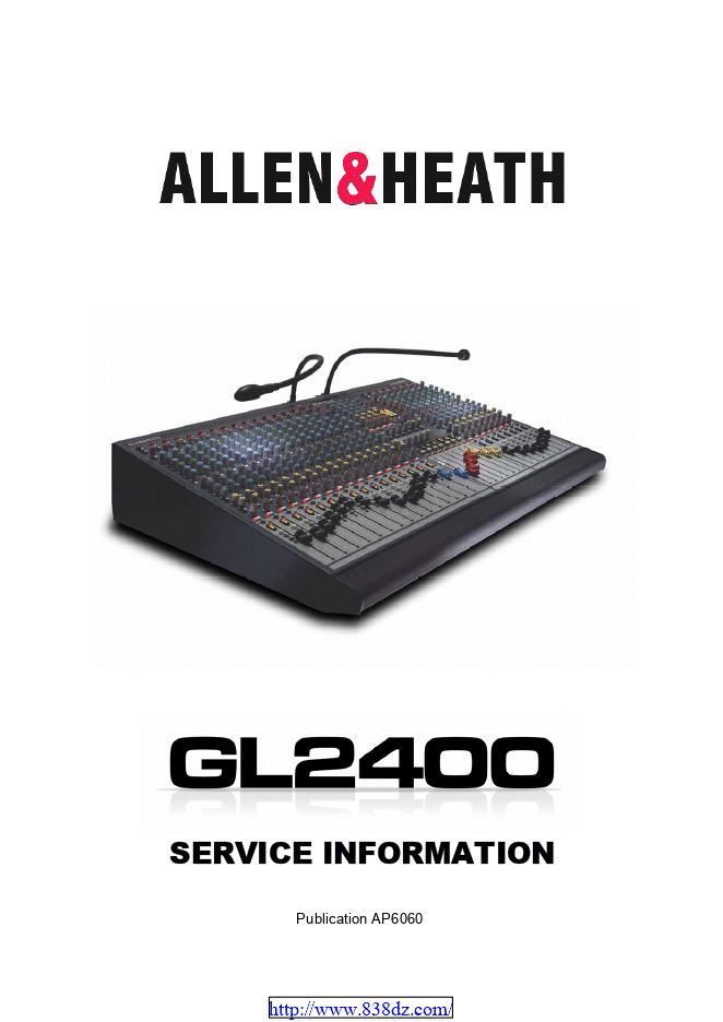 ALLEN & HEATH GL2400 调音台维修图纸