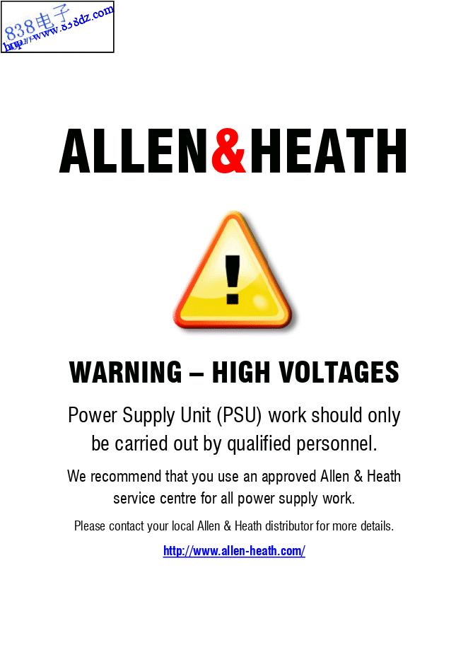 ALLEN & HEATH GL2-S调音台维修手册