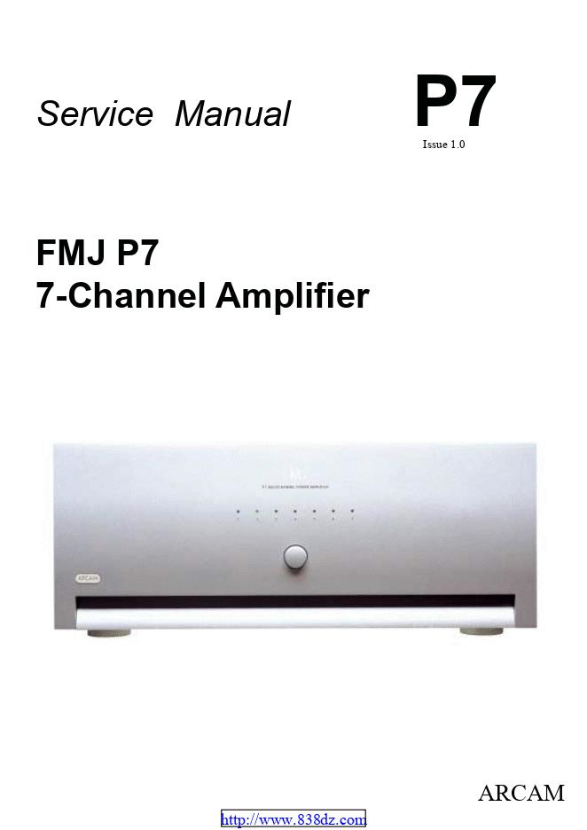 ARCAM 雅骏 FMJ P7功放维修电路图