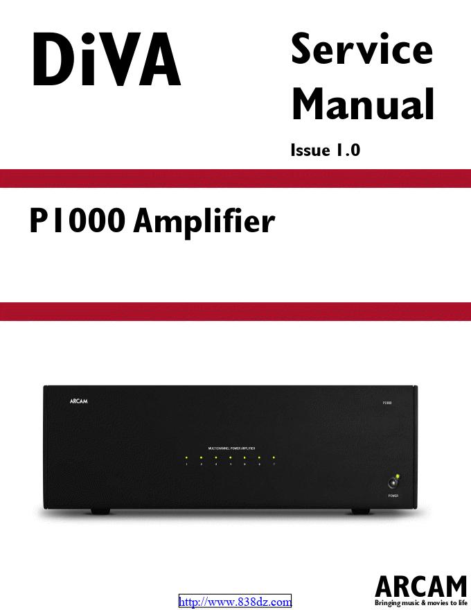 ARCAM 雅骏 DIVA P1000功放维修电路图