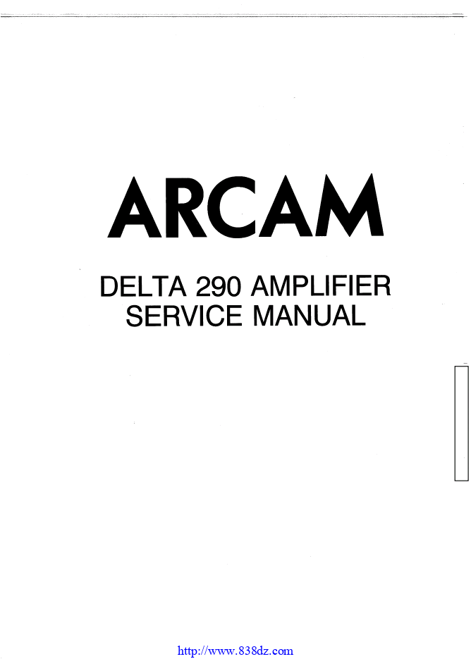 ARCAM 雅骏DELTA 290功放维修电路图