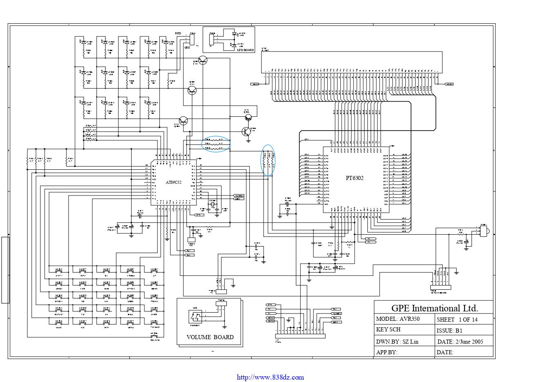 ARCAM 雅骏 AVR350功放维修电路图