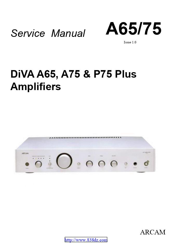 ARCAM 雅骏 DiVA A75 AV功放维修电路图