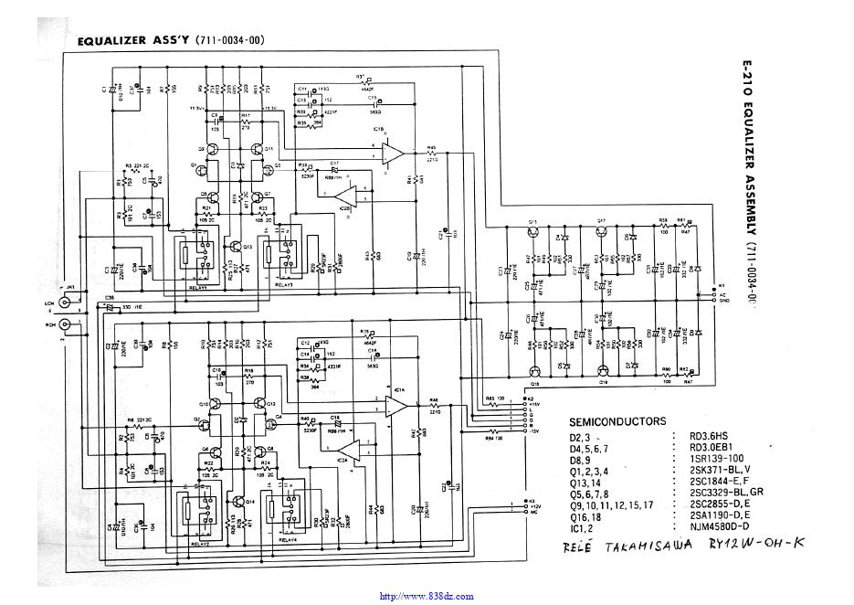 金嗓子Accuphase E-210 功放电路图