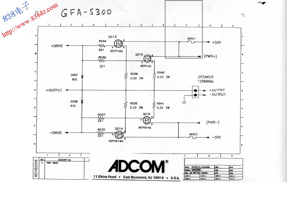 ADCOM爱琴GFA-7000功放电路图