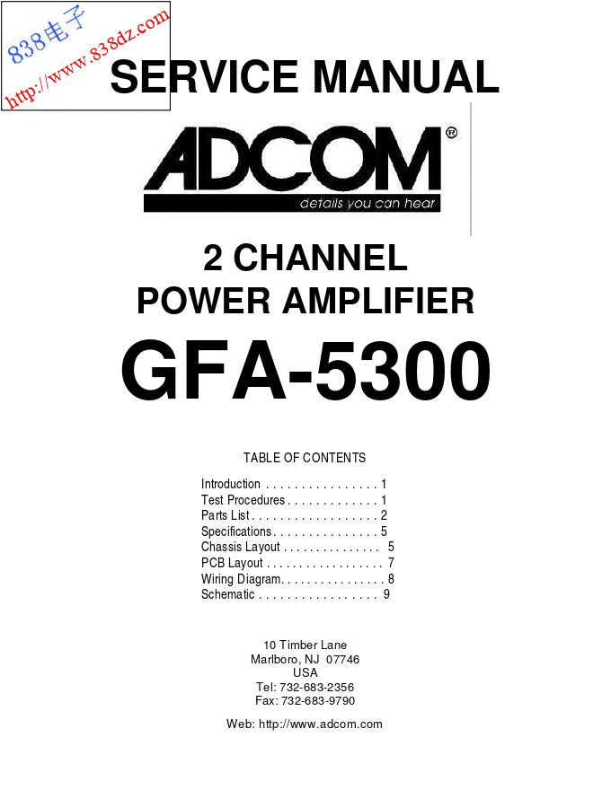ADCOM爱琴GFA-5300功放电路图