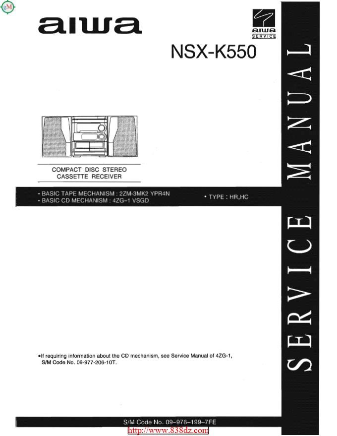 Aiwa 爱华 NSX-K550音响维修手册