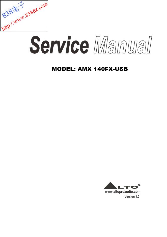 ALTO欧图AMX-140FX USB调音台维修手册