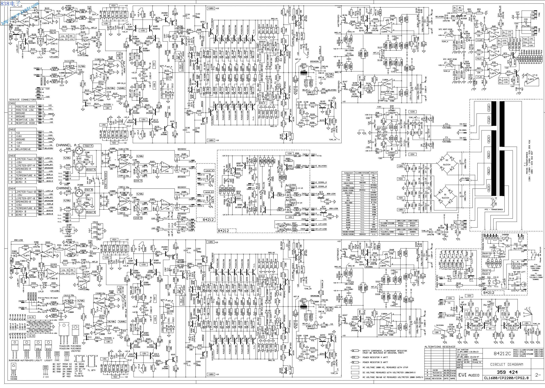 DYNACORD大地 EVI-AUDIO CL1600功放电路图