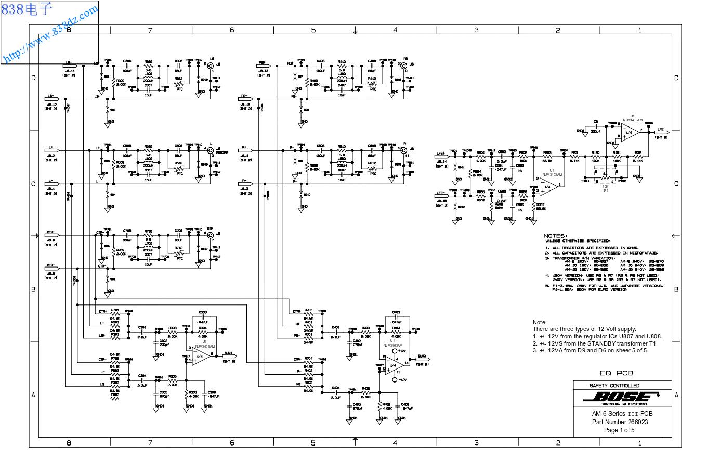 BOSE博士 AM-6 III电路图