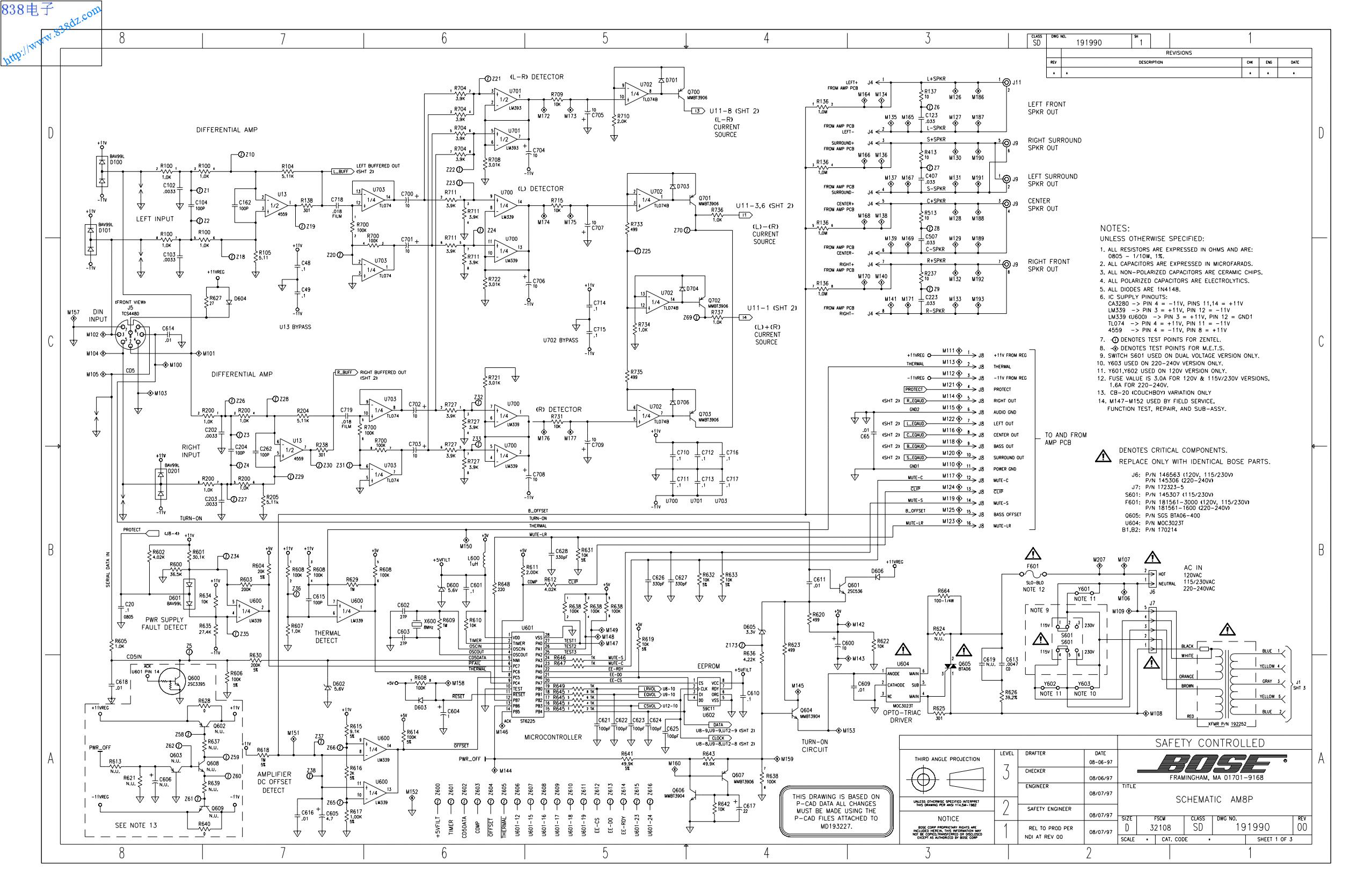 BOSE博士 AM8P电路图