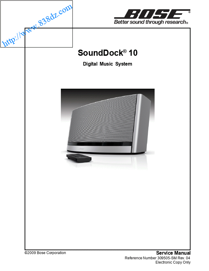 bose SoundDock 10蓝牙音响功放电路图 维修手册