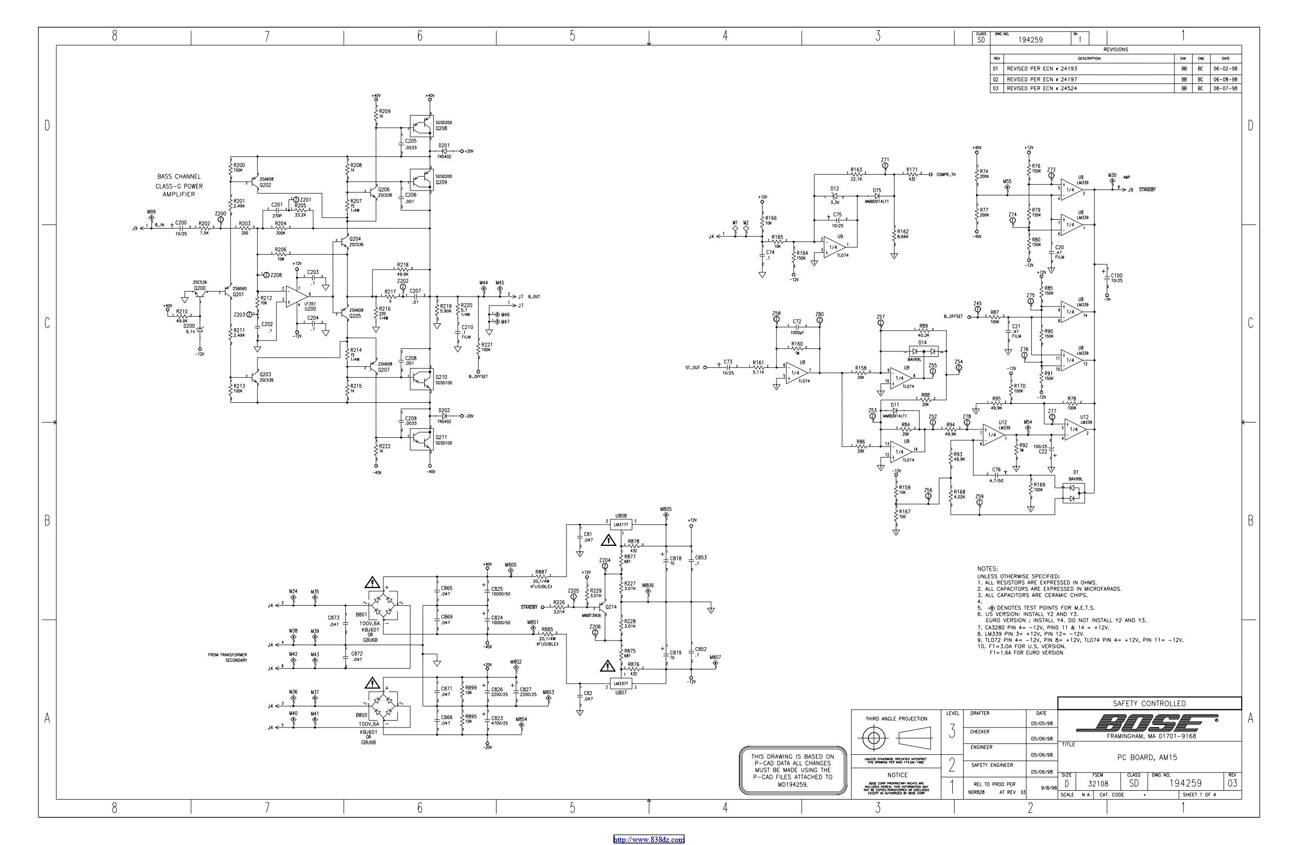 Bose AM15电路图