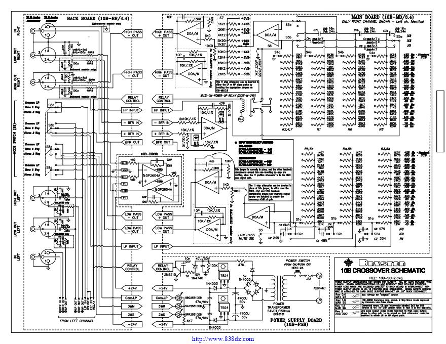 拜事通BRYSTON 10B STD功放维修电路图纸