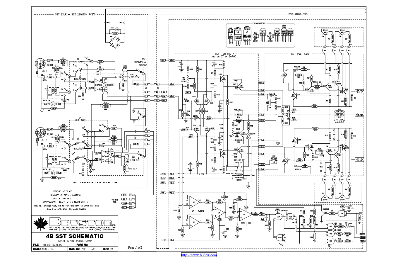 拜事通BRYSTON 7b sst功放维修电路图纸