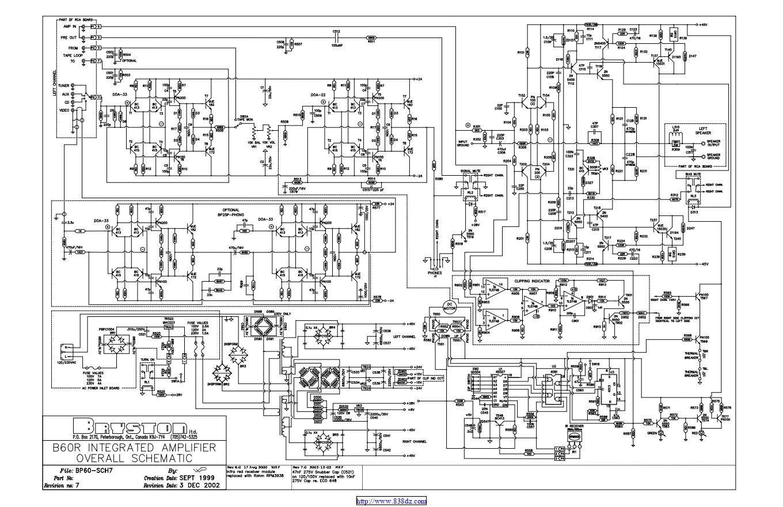 拜事通BRYSTON B-60R功放维修电路图纸