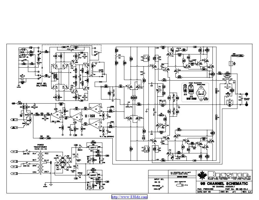 拜事通BRYSTON 9b st功放维修电路图纸