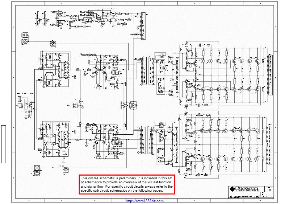 拜事通BRYSTON 28B sst功放维修电路图纸
