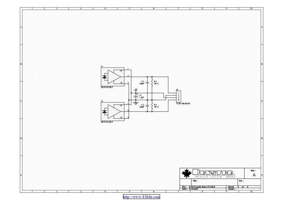 拜事通BRYSTON B100 SST前级维修电路图纸