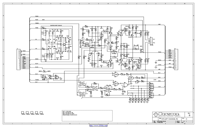 拜事通BRYSTON 875 HT功放维修电路图纸