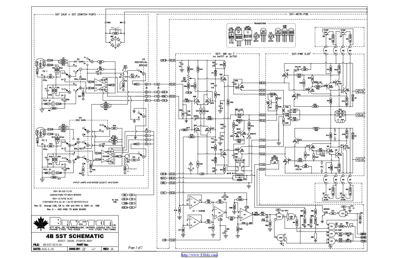 拜事通BRYSTON 4b st功放维修电路图纸