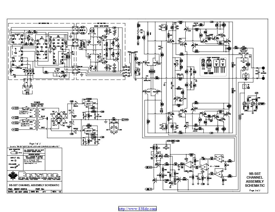 拜事通BRYSTON 9b sst功放维修电路图纸