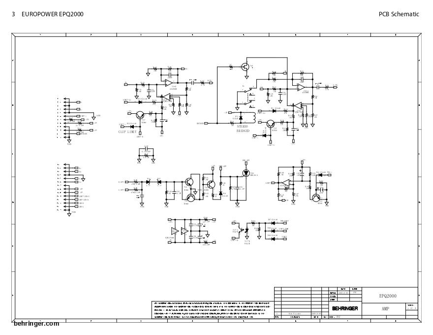 百灵达Behringer EPQ2000专业功放维修电路图