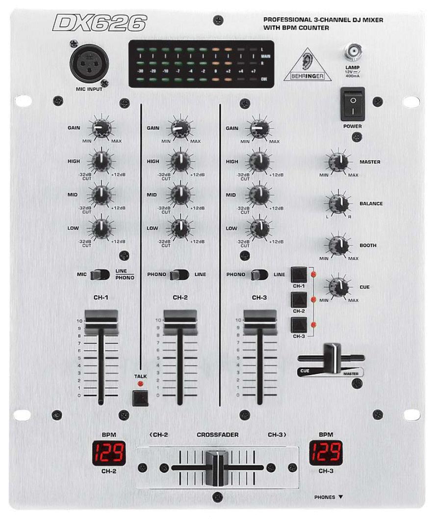 百灵达Behringer DX626混音台维修电路图