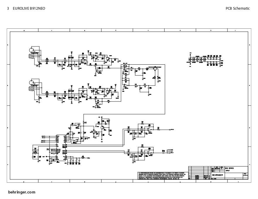 BEHRINGER 百灵达 B912NEO有源音箱电路图