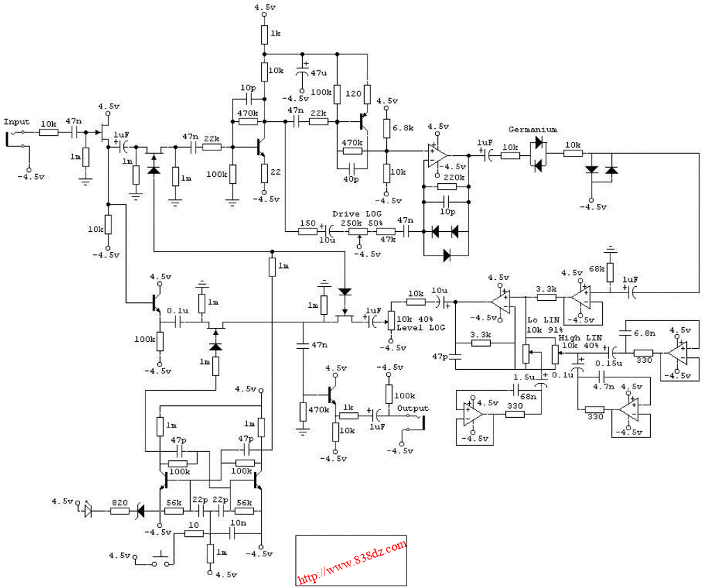Boss HM-3效果器维修图纸