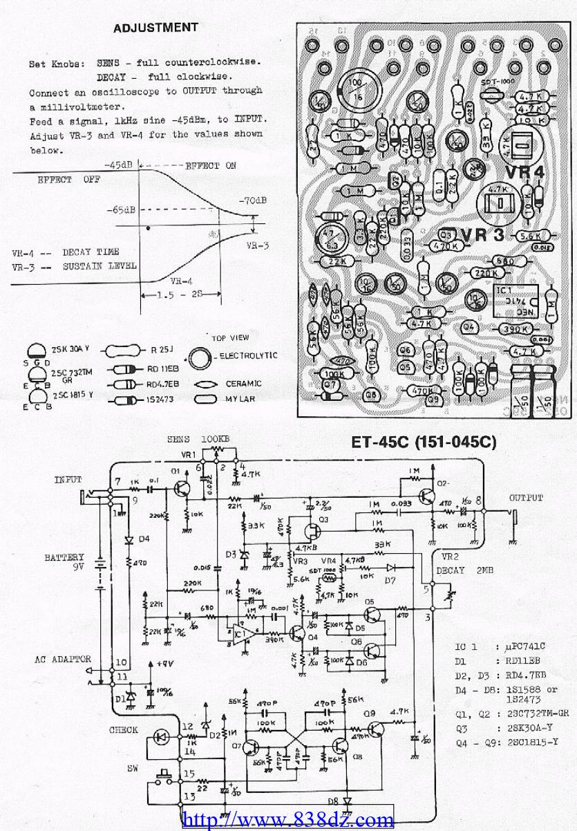 boss nf1效果器维修电路图纸