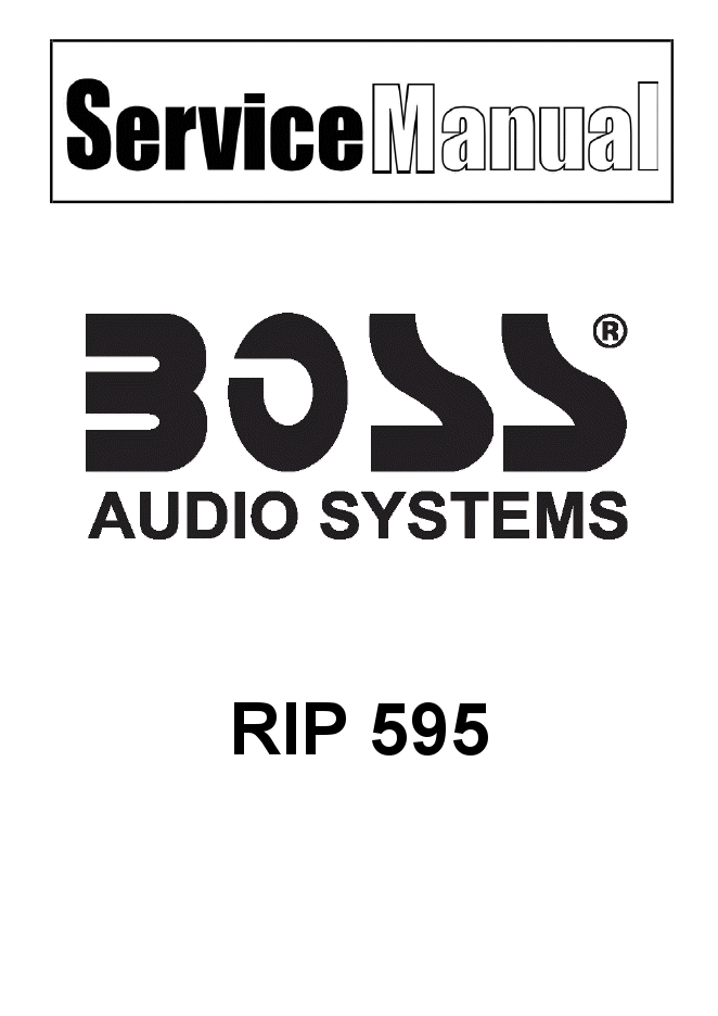 Boss RIP 595放大器维修图纸