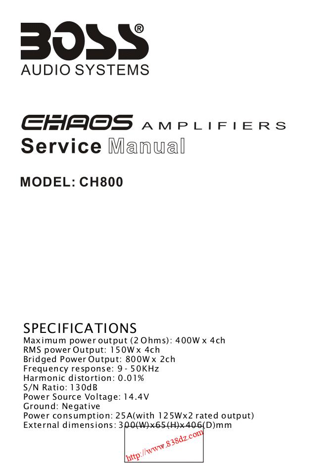 Boss CH800功放维修图纸