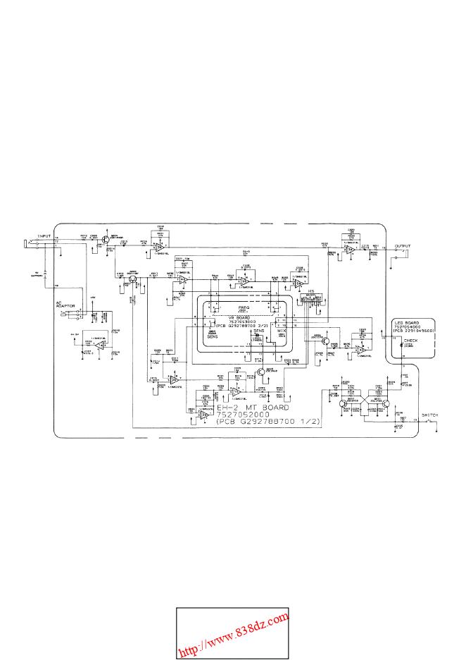 Boss EH-2吉他谐波增强器维修图纸