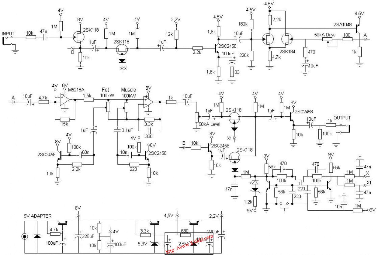 Boss PW-2效果器维修图纸