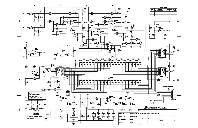 高峰CREST V1500 功放维修电路图