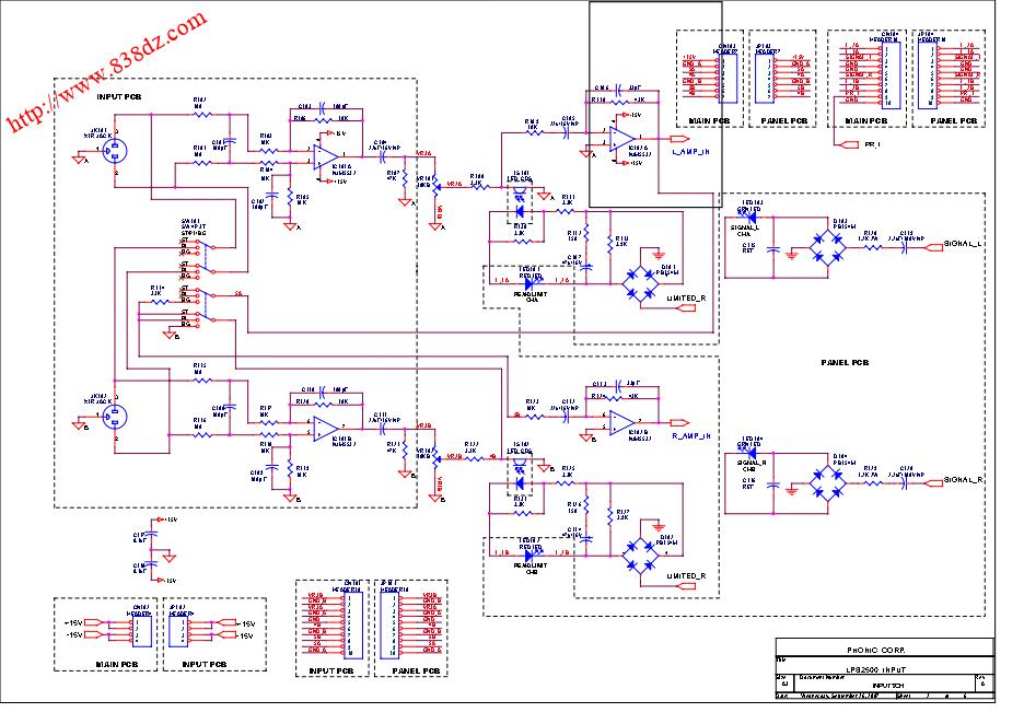 CROWN 皇冠 LPS2500功放电路图