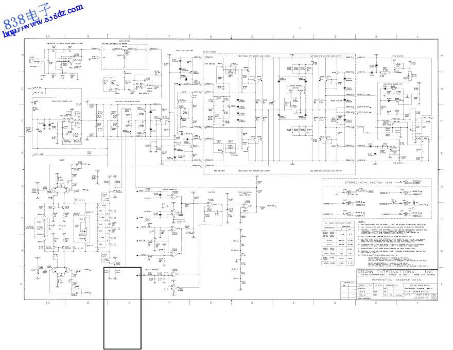 CROWN皇冠GEODYNE 1功放电路图
