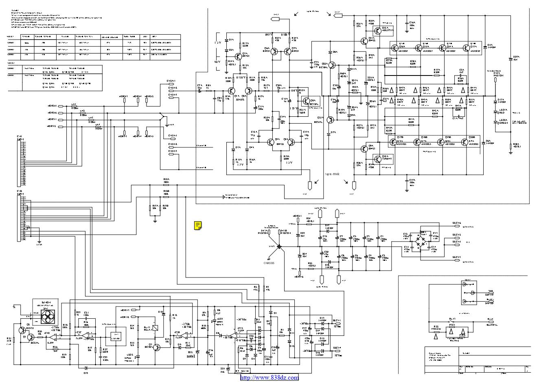CROWN 皇冠 XLS602功放电路图