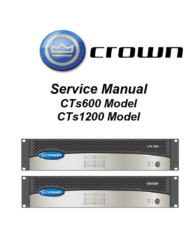 CROWN 皇冠 CTS1200功放电路图
