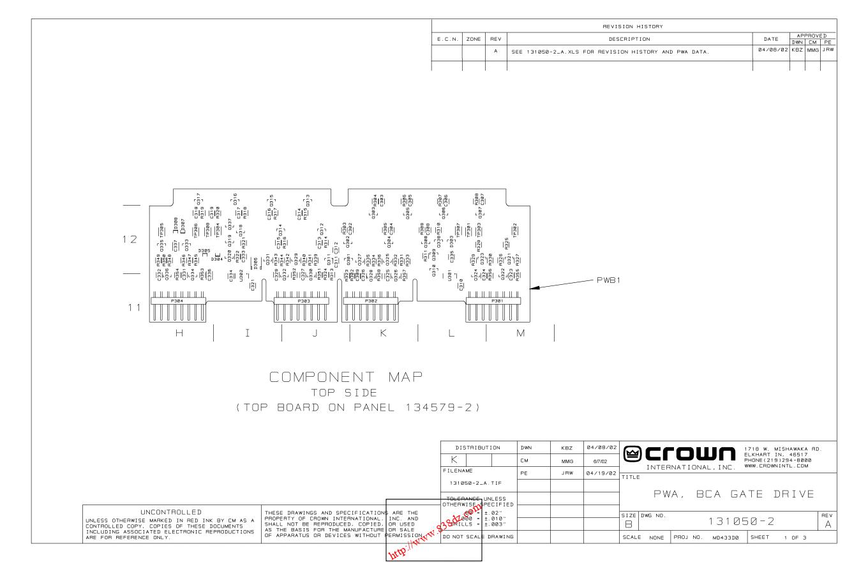 CROWN 皇冠CTS2000 功放电路图 1000W功率