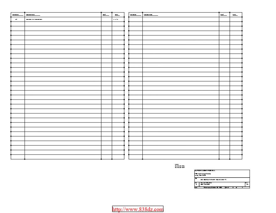 DBX 905 维修图纸