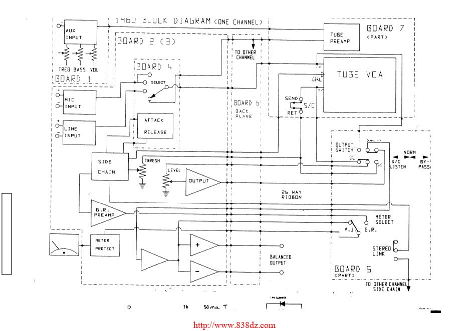 Drawmer 1960压限器维修图纸