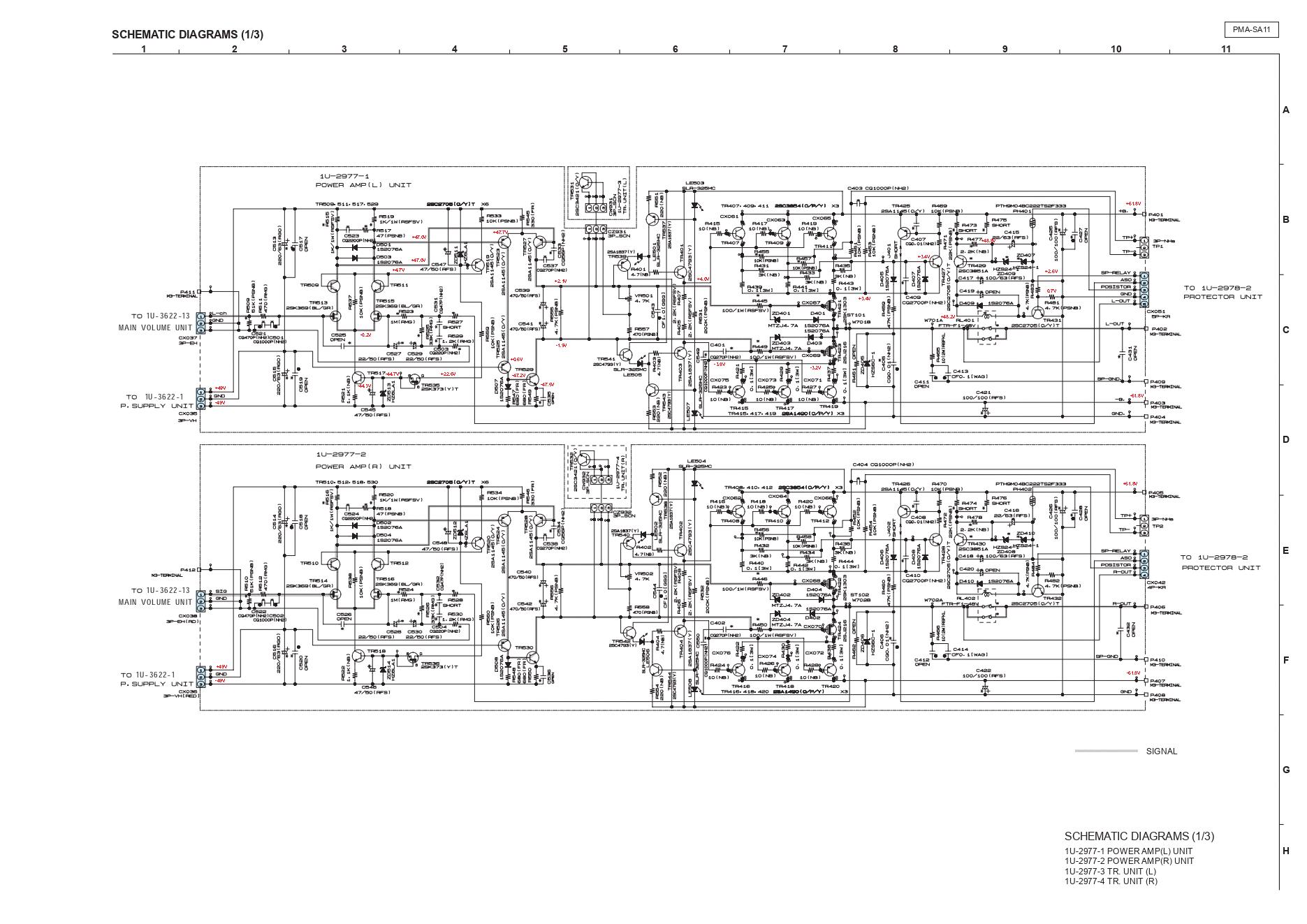Denon 天龙 PMA-SA11功放维修图纸