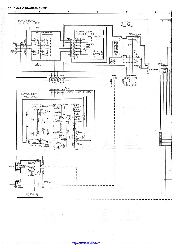 Denon 天龙 PMA-500AE功放维修图纸