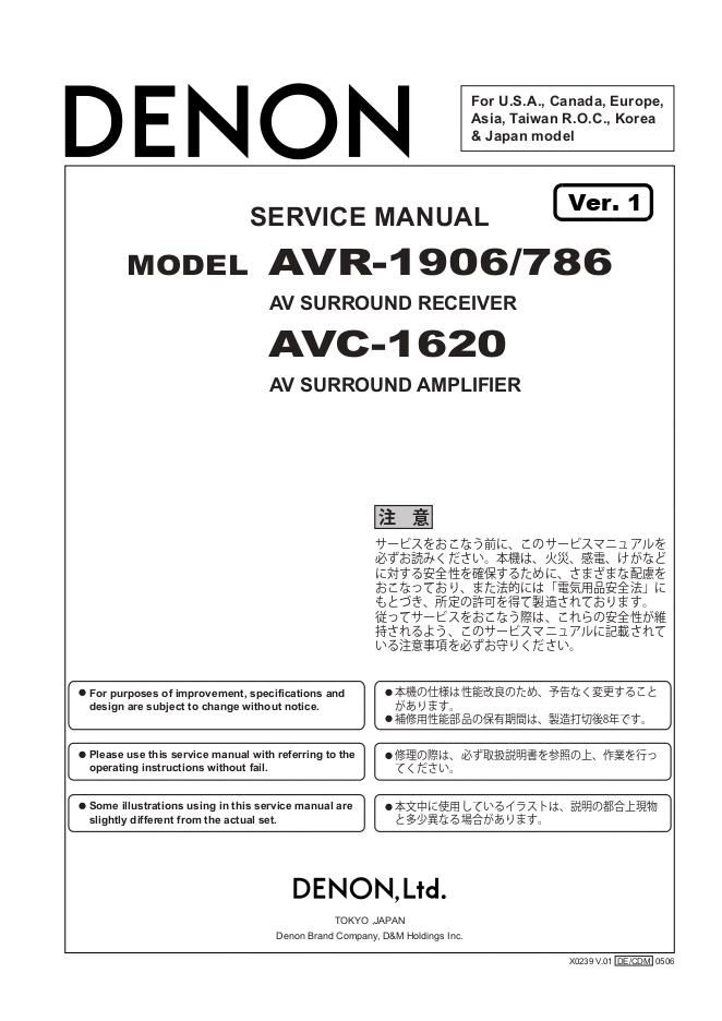 天龙Denon AVR-1906功放机电路图