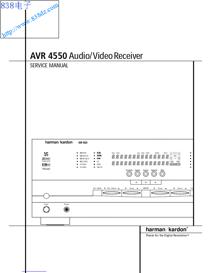 DENON天龙AVR-4550功放维修手册