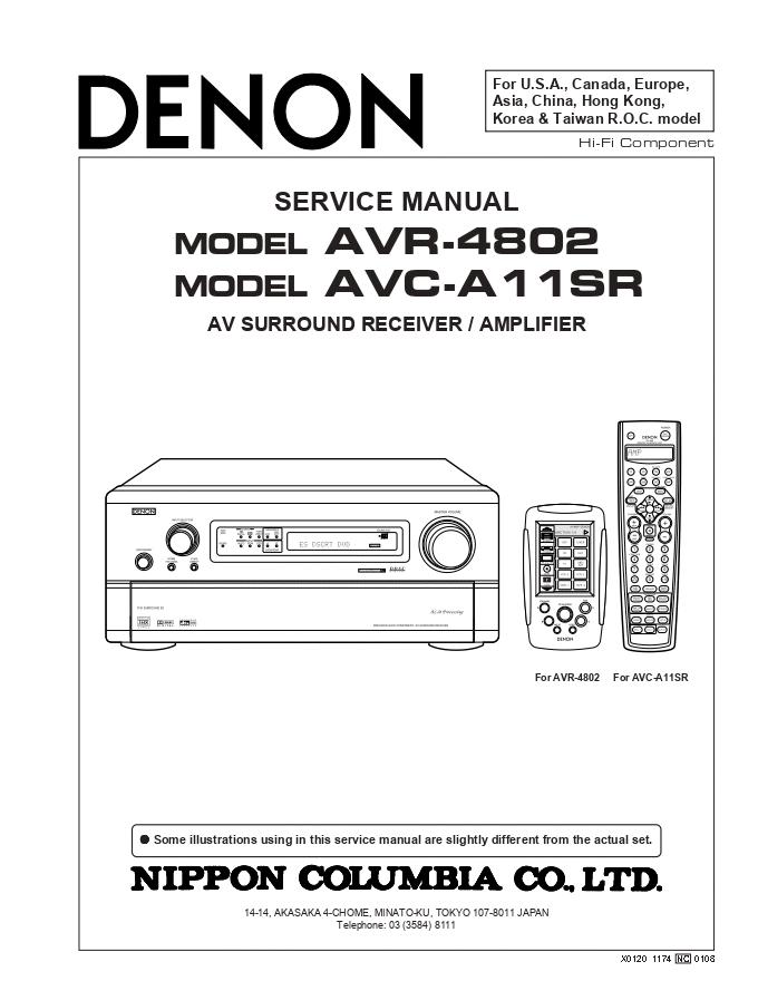 天龙Denon AVR-4802 AV功放机电路图